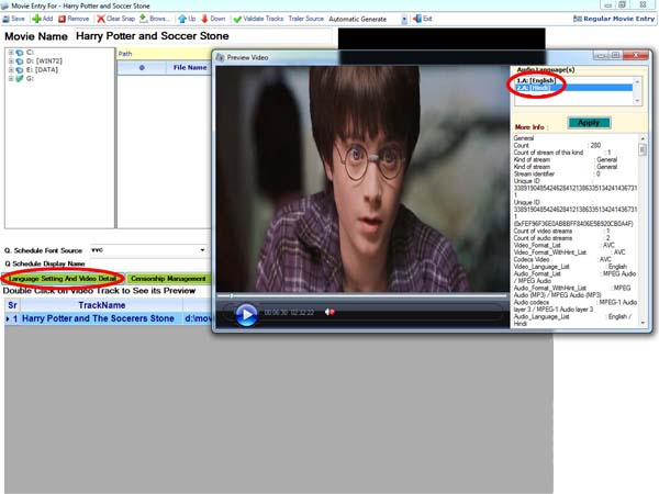 Movie playout software, HD Movie channel player Software developers