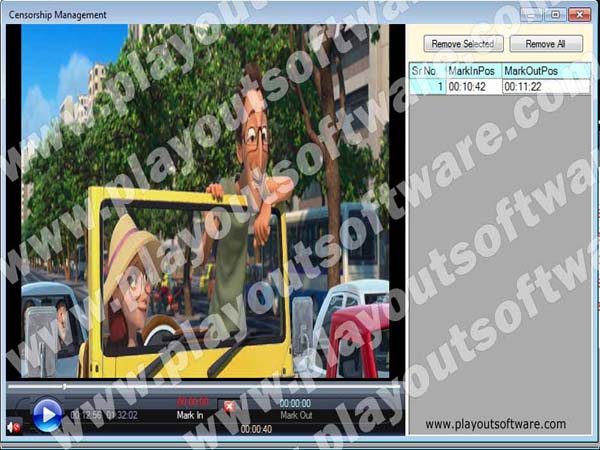 Movie playout software, HD Movie channel player Software